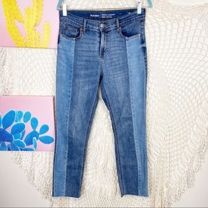 GAP Perfect Straight Mid Rise Two tone jeans 4